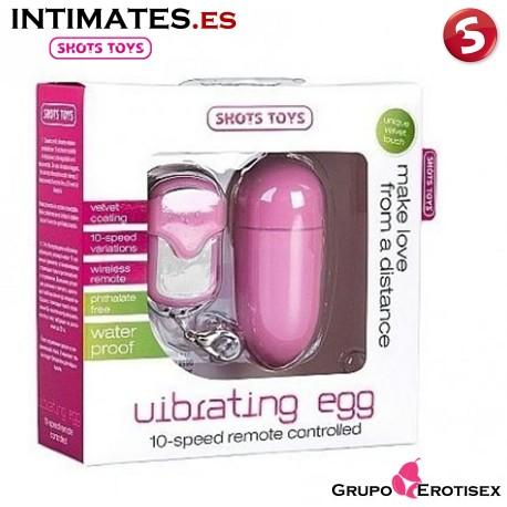 "Huevo vibrador control remoto 10v grande - Rosa · Shots en intimates.es ""Tu Personal Shopper Online"""