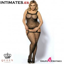 Sexy Bodystocking Black Plussize · Queen