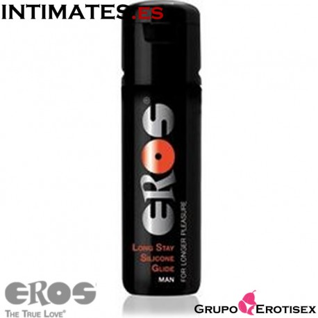 Long Stay Glide Man 100 ml · Lubricante silicona · Eros