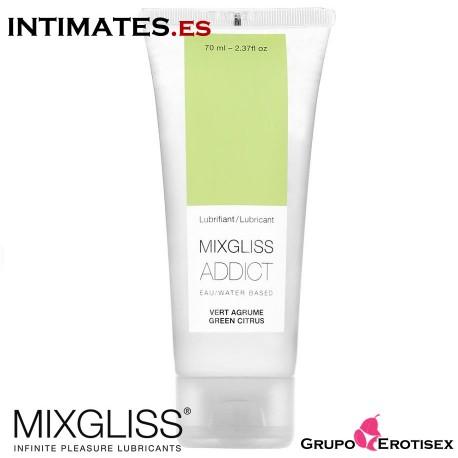 Addict 70 ml · Lubricante aroma a citricos · Mixgliss