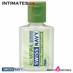 All Natural · Lubricante a base de agua 20 ml · Swiss Navy