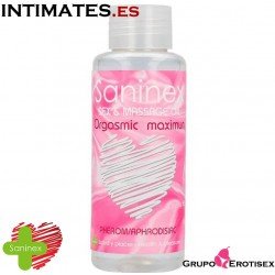 Orgasmic maximun · Sex & massage oil  100ml.  · Saninex