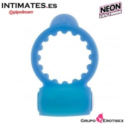 Vibrating Cockring Blue - Anillo para el pene - Neon