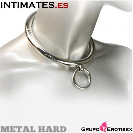 """Collar de esclavo con argolla 18 cm de Metal Hard, que puedes adquirir en intimates.es """"Tu Personal Shopper Erótico Online"""""""