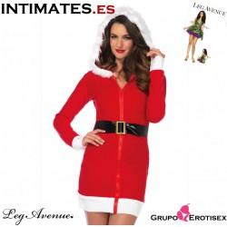 Miss Santa de Fleece · Disfraz navideño · Leg Avenue