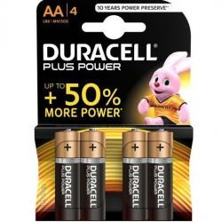 DURACELL PLUS POWER PILA ALCALINA AA LR6 BLISTER*4