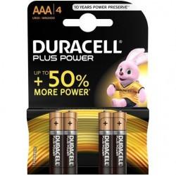 DURACELL PLUS POWER PILA ALCALINA AAA LR03 BLISTER*4