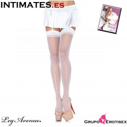 Sheer stockings · Medias blancas transparentes · Leg Avenue
