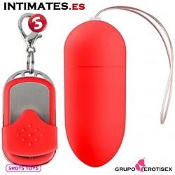 Huevo vibrador control remoto 10v grande - Rojo · Shots