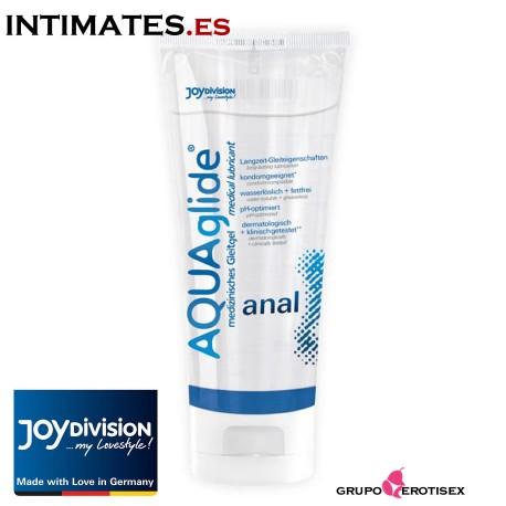 """AQUAglide Anal 100ml · Lubricante base agua de Joydivision, que puedes adquirir en intimates.es """"Tu Personal Shopper Erótico Online"""""""