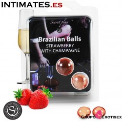 Brazilian Balls - Fresas con cava · Set 2 uds. · Secret Play