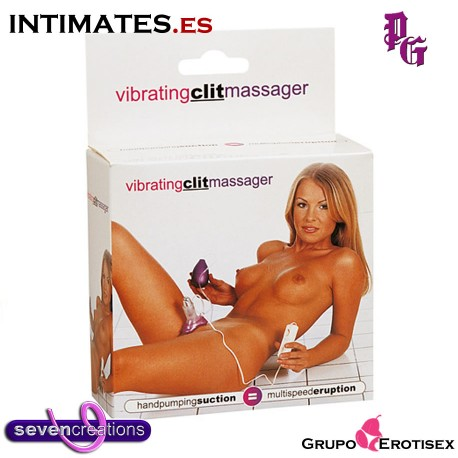 "Vibrating Clit Massager · Succionador de Clítoris de Seven Creations, que puedes adquirir en intimates.es ""Tu Personal Shopper Erótico Online"""