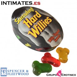 Succulent Hard Willies · Caramelos forma pene · Spencer & Fleetwood