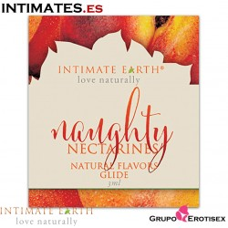 Naughty Nectarines Natural Flavors Glide 3ml · Intimate Earth