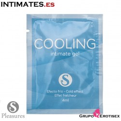 Cooling intimate gel 4ml · Lubricante efecto frio · Sinful