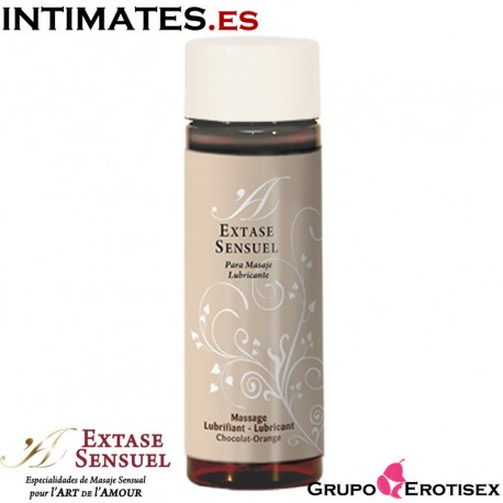 """Chocolat-Orange 100 ml · Massage Lubricant de Extase Sensuel, que puedes adquirir en intimates.es """"Tu Personal Shopper Erótico Online"""