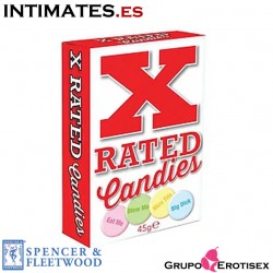 X-Rated Candies · Caramelos con mensajes · Spencer & Fleetwood