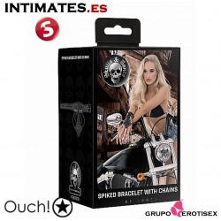 Skulls and Bones - Black · Brazalete con pinchos y cadenas · Ouch!