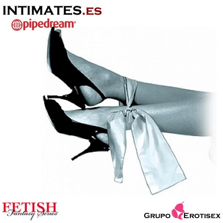 Grey Silk Ties · Cinta de seda gris · Fetish Fantasy Series