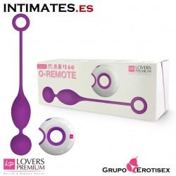 Julia - Purple · Huevo vibrador con control remoto y luz LED · Lovers Premium