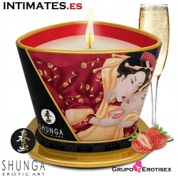 Romance Massage Candle · Sparkling Strawberry Wine · Shunga