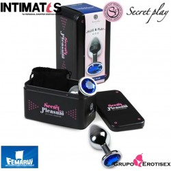 Plug & Play · Plug anal azul - M · Secret Play