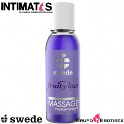 Fruity Love™ Massage blueberry/cassis · Aceite efecto calor · Swede
