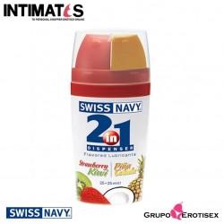 2in1 Dispenser Fresa/Kiwi y piña colada · Lubricante Premium con sabor 50ml · Swiss Navy