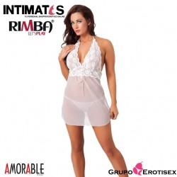 No. 1029 · Mini vestido blanco con tanga · Rimba