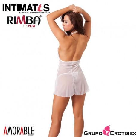 """No. 1029 · Mini vestido blanco con tanga · Rimba, que puedes adquirir en intimates.es """"Tu Personal Shopper Erótico Online"""""""