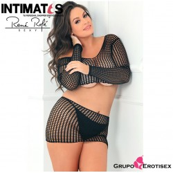 No. 7013X-BLK · 2pc Crochet Bodystocking · René Rofé