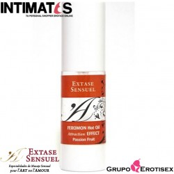 Hot Oil Feromon · Fruta Pasión 30 ml · Extase Sensuel