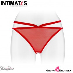Sylvie · Tanga rojo sin entrepierna · Fashion Secret