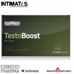 Testoboost 40tabs ♂ · Promueve la capacidad sexual · CoolMann