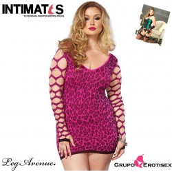Seamless Leopard -Pink · Mini vestido estampado leopardo · Leg Avenue