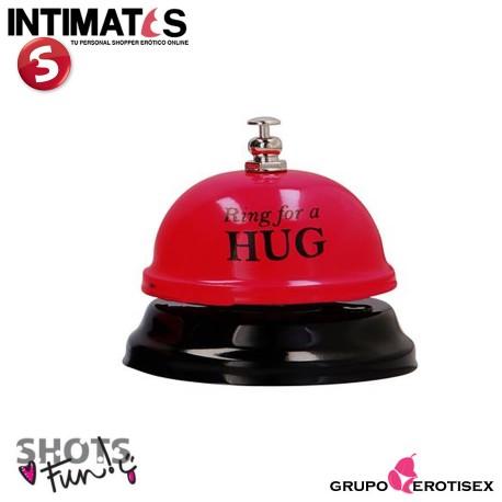 """Ring For a Hug · Campana hotel roja · Shots, que puedes adquirir en intimates.es """"Tu Personal Shopper Erótico Online"""""""