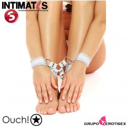 Velcro Hand And Leg Cuffs - White · Ouch!