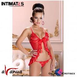 Agni · Conjunto rojo de tul · Avanua