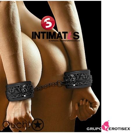 Luxury Hand Cuffs · Esposas negras · Ouch!