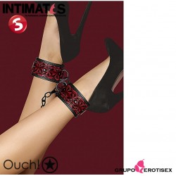 Luxury Ankle Cuffs · Esposas para tobillos burgundy · Ouch!