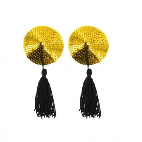 Pezoneras de lentejuelas doradas · Paris Hollywood