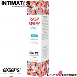 Raspberry Mint · Gel estimulante refrescante 15ml. · Exsens