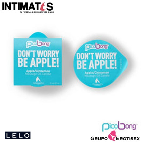 "Don't Worry Be Apple! · Massage Oil Candle · Picobong, que puedes adquirir en intimates.es ""Tu Personal Shopper Erótico Online"""