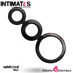 Rings set for penis · Anillos de placer para el pene · Addicted toys