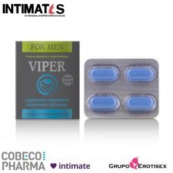 Viper ♂ 4 tabs · Ayuda a mantener la erección · Cobeco