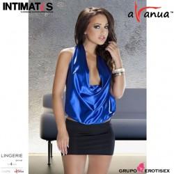 Lavanya · Sensual conjunto azul de blusa y minifalda · Avanua