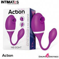 No. Eight · Succionador de clítoris y huevo vibrador 2 en 1 · Action