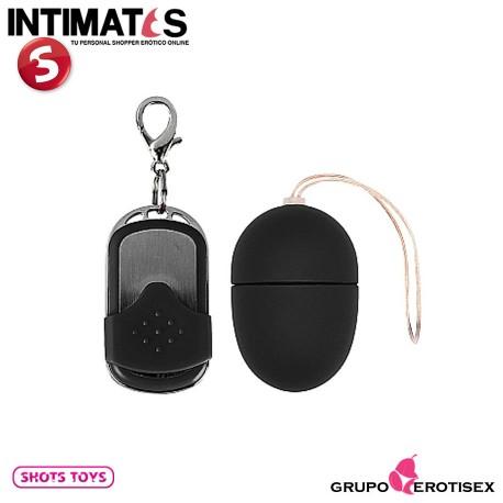 """Huevo vibrador control remoto 10v - Pequeño - Negro · Shots, que puedes adquirir en intimates.es """"Tu Personal Shopper Erótico Online"""""""