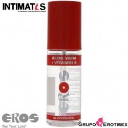 Aloe Vera + Vitamin E · Lubricante silicona 100ml · Eros
