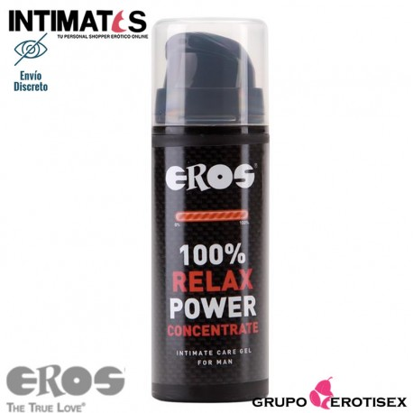 Relax Power Concentrate for Man · Gel relajante anal · Eros